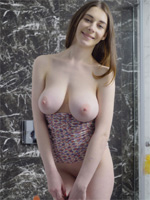 naked puffy breast with big pink nipples